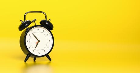 Black vintage alarm clock with bright yellow background. Minimal creative concept, with copyspace for your individual text. : Stock Photo or Stock Video Download rcfotostock photos, images and assets rcfotostock | RC-Photo-Stock.: