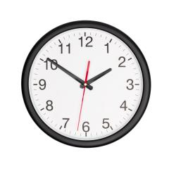 Black wall clock on white background- Stock Photo or Stock Video of rcfotostock | RC-Photo-Stock
