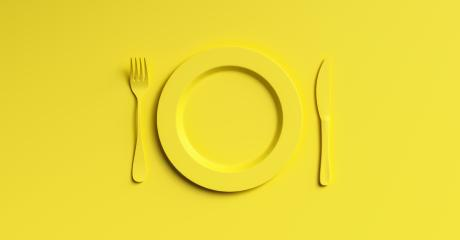 Blank yellow plate mockup with fork and knife, top view. Clear ceramic dishware with set cutlery design. Empty yellow table ware for lunch or dinner in cafe. copyspace for your individual text. : Stock Photo or Stock Video Download rcfotostock photos, images and assets rcfotostock | RC-Photo-Stock.:
