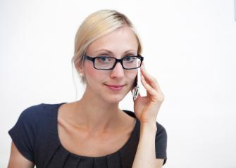 Blond businesswoman talking on phone- Stock Photo or Stock Video of rcfotostock | RC-Photo-Stock