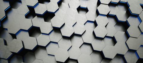 Blue abstract hexagons background pattern 3D rendering - Illustration - Stock Photo or Stock Video of rcfotostock | RC-Photo-Stock
