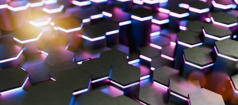 Blue and pink abstract hexagons background pattern 3D rendering - Illustration - Stock Photo or Stock Video of rcfotostock | RC-Photo-Stock
