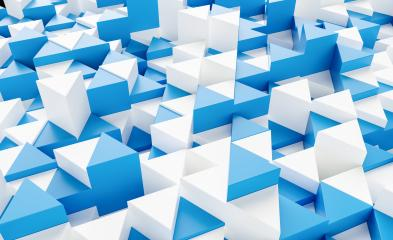 blue and white background with triangles - 3d rendering - Stock Photo or Stock Video of rcfotostock | RC-Photo-Stock