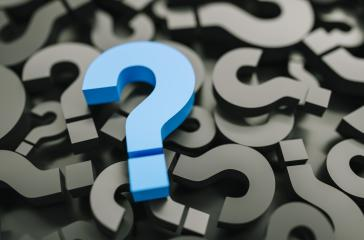 blue big question marks background- Stock Photo or Stock Video of rcfotostock | RC-Photo-Stock