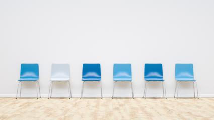 blue chairs in a waiting room, including Copy space - 3D Rendering- Stock Photo or Stock Video of rcfotostock | RC-Photo-Stock