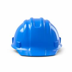 blue construction helmet isolated on white background. 3D rendering- Stock Photo or Stock Video of rcfotostock | RC-Photo-Stock