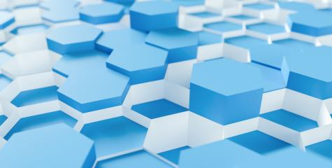 blue Hexagon Background - 3D rendering - Illustration - Stock Photo or Stock Video of rcfotostock | RC-Photo-Stock
