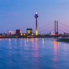 blue hour at Dusseldorf : Stock Photo or Stock Video Download rcfotostock photos, images and assets rcfotostock | RC-Photo-Stock.: