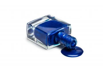 blue nail polish bottle isolated on white- Stock Photo or Stock Video of rcfotostock | RC-Photo-Stock