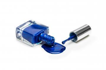 Blue nail polish isolated on white background- Stock Photo or Stock Video of rcfotostock | RC-Photo-Stock