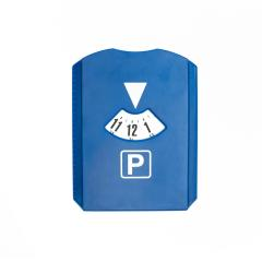 Blue parking disc with arrival time isolated on white- Stock Photo or Stock Video of rcfotostock | RC-Photo-Stock