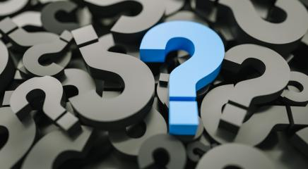 blue question mark on a background of black signs.- Stock Photo or Stock Video of rcfotostock | RC-Photo-Stock