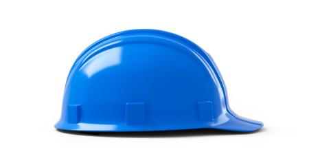blue safety helmet isolated on white background. 3D rendering- Stock Photo or Stock Video of rcfotostock | RC-Photo-Stock