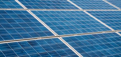 Blue solar panels photovoltaic, alternative electricity source- Stock Photo or Stock Video of rcfotostock | RC-Photo-Stock