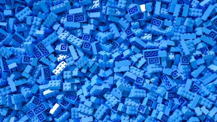 blue toy bricks background - 3D Rendering Illustration : Stock Photo or Stock Video Download rcfotostock photos, images and assets rcfotostock | RC-Photo-Stock.: