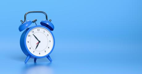 Blue vintage alarm clock with bright blue background. Minimal creative concept, with copyspace for your individual text. : Stock Photo or Stock Video Download rcfotostock photos, images and assets rcfotostock | RC-Photo-Stock.: