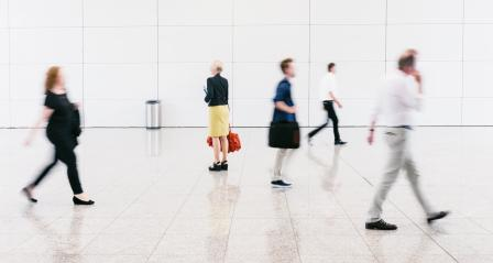 blurred anonymous people in a modern hall- Stock Photo or Stock Video of rcfotostock | RC-Photo-Stock