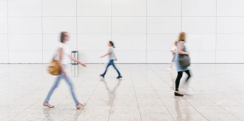 blurred anonymous people walking in a corridor- Stock Photo or Stock Video of rcfotostock | RC-Photo-Stock
