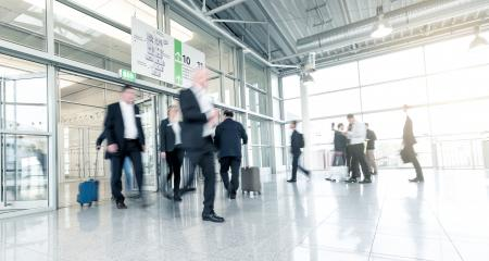 blurred business commuters at a entrance- Stock Photo or Stock Video of rcfotostock | RC-Photo-Stock