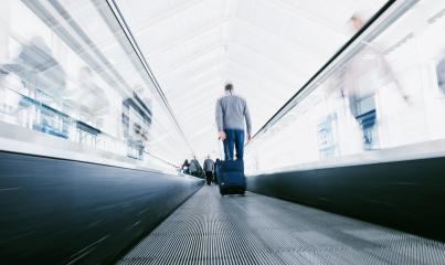 blurred business commuters using staircases on a airport- Stock Photo or Stock Video of rcfotostock | RC-Photo-Stock