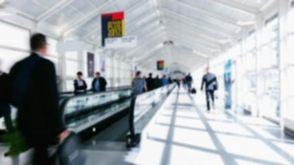 blurred business commuters walking on staircases on a airport- Stock Photo or Stock Video of rcfotostock   RC-Photo-Stock