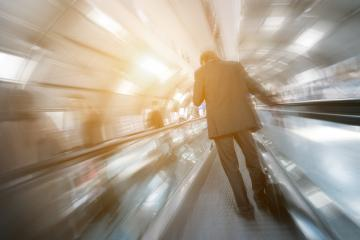 blurred business passenger on a escalator- Stock Photo or Stock Video of rcfotostock | RC-Photo-Stock