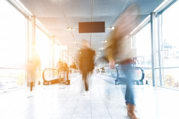 Blurred business people at a congress corridor- Stock Photo or Stock Video of rcfotostock | RC-Photo-Stock