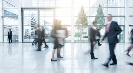 Blurred business people at a corridor - Stock Photo or Stock Video of rcfotostock | RC-Photo-Stock