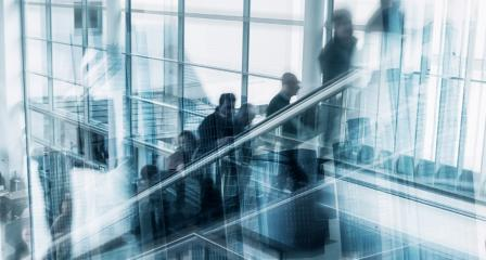 Blurred business people at a escalator- Stock Photo or Stock Video of rcfotostock | RC-Photo-Stock