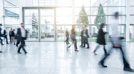 Blurred business people at a Exhibition - Stock Photo or Stock Video of rcfotostock   RC-Photo-Stock