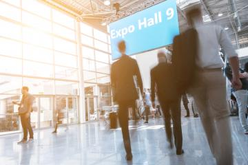 Blurred business people at a expo hall- Stock Photo or Stock Video of rcfotostock | RC-Photo-Stock