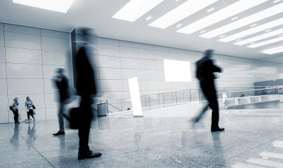 Blurred business people at a International Trade Show walkway- Stock Photo or Stock Video of rcfotostock | RC-Photo-Stock