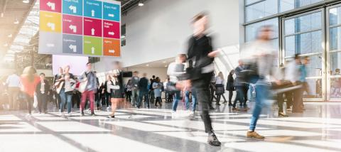 blurred business people at a trade fair - Stock Photo or Stock Video of rcfotostock | RC-Photo-Stock