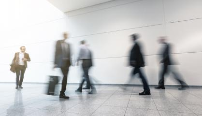 Blurred business people at a trade fair- Stock Photo or Stock Video of rcfotostock | RC-Photo-Stock