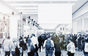 blurred business people at a trade fair, copyspace for your individual text- Stock Photo or Stock Video of rcfotostock | RC-Photo-Stock