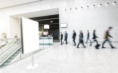 blurred business people at a trade fair corridor- Stock Photo or Stock Video of rcfotostock | RC-Photo-Stock