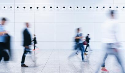 blurred business people at a trade show- Stock Photo or Stock Video of rcfotostock | RC-Photo-Stock