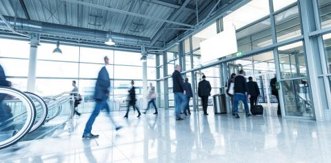 Blurred business people at a Trade Show Convention- Stock Photo or Stock Video of rcfotostock   RC-Photo-Stock