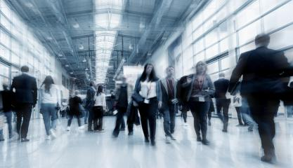 Blurred business people at a Tradeshow - Stock Photo or Stock Video of rcfotostock | RC-Photo-Stock