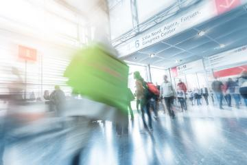 Blurred business people at a tradeshow- Stock Photo or Stock Video of rcfotostock | RC-Photo-Stock