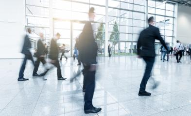 Blurred business people at a tradeshow hall- Stock Photo or Stock Video of rcfotostock | RC-Photo-Stock