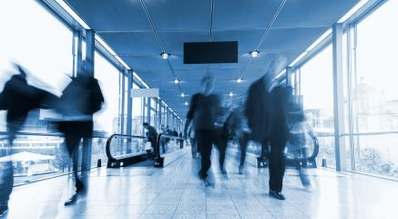 Blurred business people at aiport hall- Stock Photo or Stock Video of rcfotostock | RC-Photo-Stock