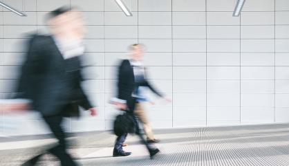Blurred business people at corridor- Stock Photo or Stock Video of rcfotostock | RC-Photo-Stock