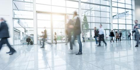 Blurred business people at Exhibition hall- Stock Photo or Stock Video of rcfotostock   RC-Photo-Stock