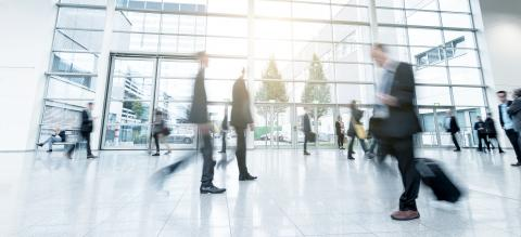 blurred business people at trade fair stock photo- Stock Photo or Stock Video of rcfotostock | RC-Photo-Stock