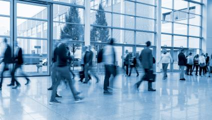 Blurred business people crowd at a Exhibition- Stock Photo or Stock Video of rcfotostock | RC-Photo-Stock