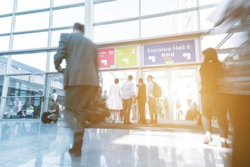 Blurred business people on trade show- Stock Photo or Stock Video of rcfotostock | RC-Photo-Stock