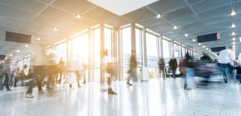 Blurred business people rushing at a corridor- Stock Photo or Stock Video of rcfotostock   RC-Photo-Stock