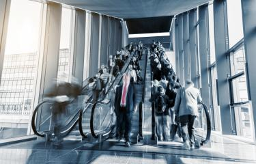 blurred business people rushing at a escalator- Stock Photo or Stock Video of rcfotostock | RC-Photo-Stock