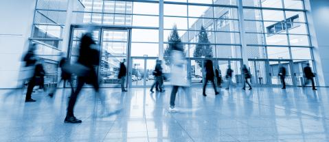 blurred business people trade fair stock photo- Stock Photo or Stock Video of rcfotostock | RC-Photo-Stock